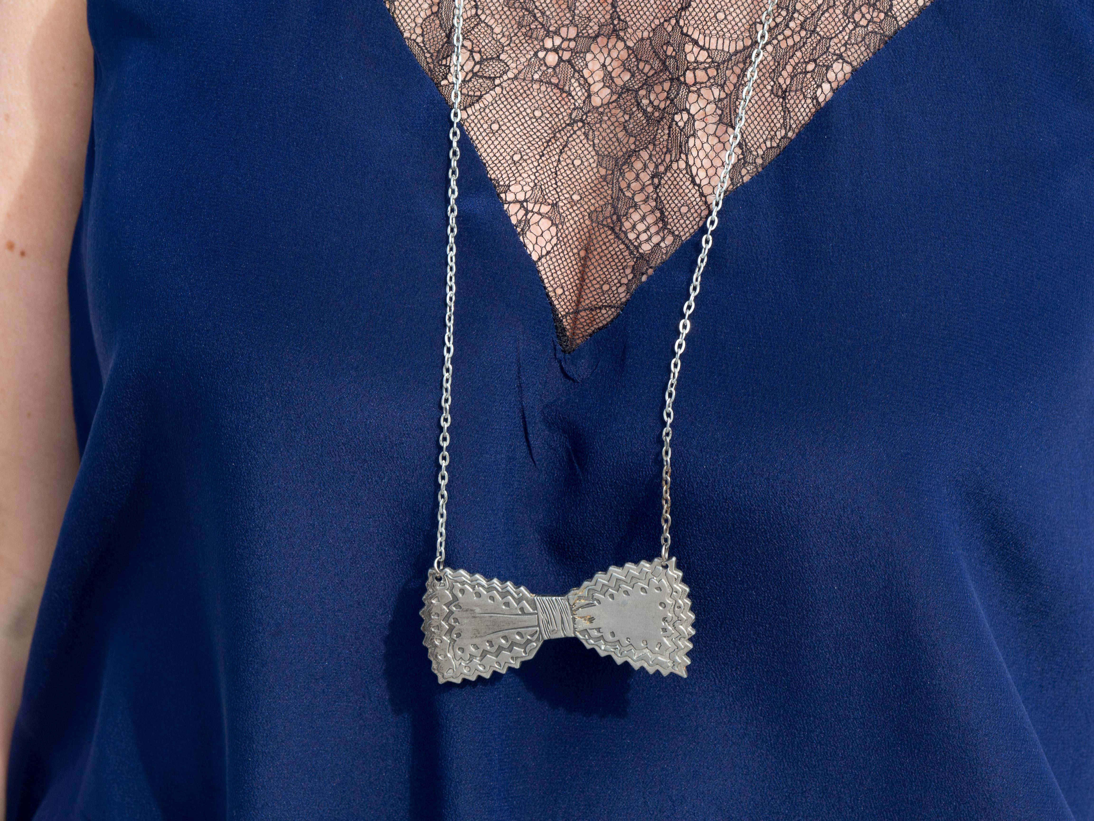 Alyson - Combi-short bleu & petit nœud