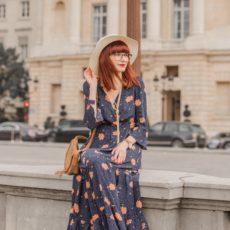 La robe longue à fleurs