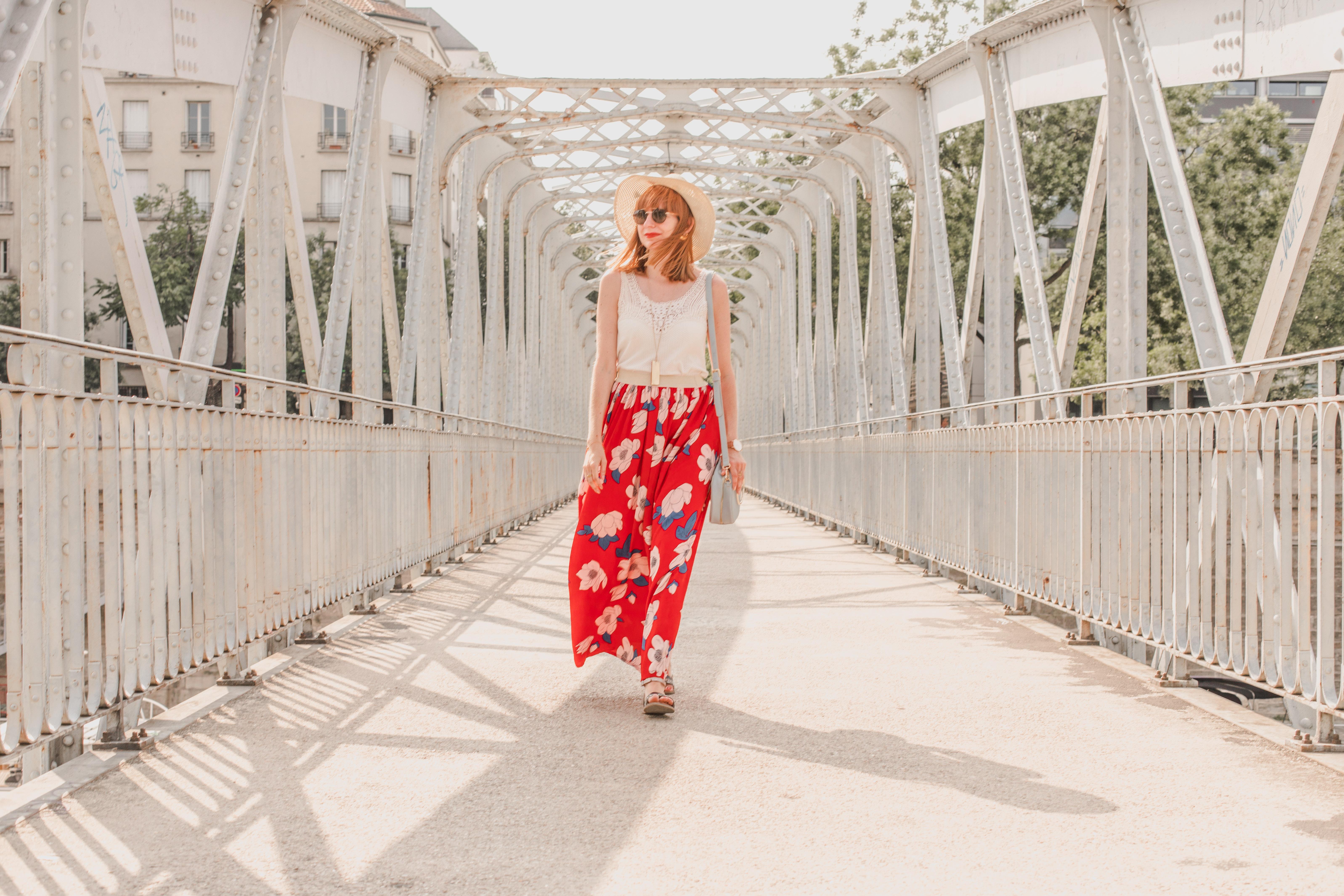 La jupe longue à fleurs